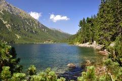 Paesaggio delle montagne del Tatra. fotografia stock