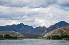 Paesaggio delle montagne dell'Altay Fotografia Stock Libera da Diritti