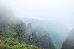 Paesaggio delle montagne della Cina Hubei Shennongjia Fotografie Stock Libere da Diritti