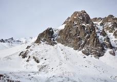 Paesaggio delle montagne della neve immagine stock