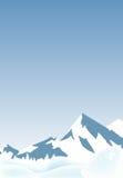 Paesaggio delle montagne della neve Immagini Stock