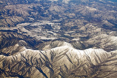 Paesaggio delle montagne della neve nel Giappone vicino a Tokyo Fotografie Stock