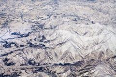 Paesaggio delle montagne della neve nel Giappone vicino a Tokyo Fotografia Stock