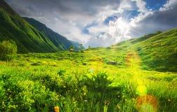 Paesaggio delle montagne della primavera immagini stock libere da diritti