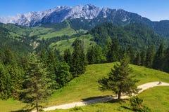 Paesaggio delle montagne delle alpi L'Austria, Tirol Immagine Stock
