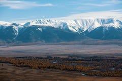 Paesaggio delle montagne di Altai nella Repubblica di Altai Immagine Stock Libera da Diritti