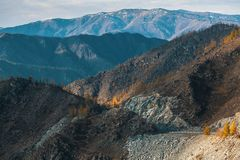 Paesaggio delle montagne di Altai Repubblica di Altai Fotografia Stock