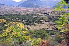Paesaggio delle montagne di Arcadia in Grecia Fotografia Stock Libera da Diritti