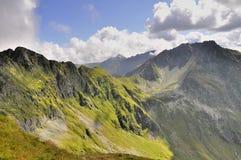 Paesaggio delle montagne di Carpathians bello Immagine Stock