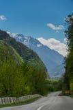 Paesaggio delle montagne di Georgia Immagini Stock Libere da Diritti