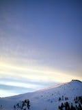 Paesaggio delle montagne di inverno Immagini Stock Libere da Diritti