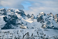 Paesaggio delle montagne di inverno Fotografie Stock Libere da Diritti