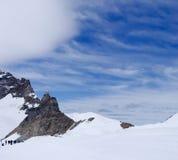Paesaggio delle montagne di Jungfrau Fotografia Stock Libera da Diritti