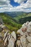 Paesaggio delle montagne di Krkonose Fotografia Stock