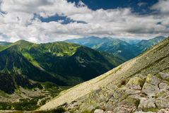 Paesaggio delle montagne di Tatra Fotografia Stock