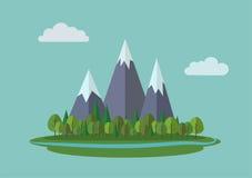 Paesaggio delle montagne di vettore Fotografie Stock Libere da Diritti