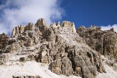 Paesaggio delle montagne delle dolomia Fotografia Stock