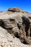 Paesaggio delle montagne in Gruppo Sella ai monumenti di Piz Boe ed alla natura molto piacevole in Dolomiti, montagne Italia, Eur fotografia stock libera da diritti