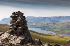 Paesaggio delle montagne in Islanda Fotografia Stock