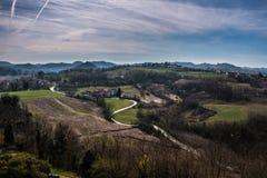 Paesaggio delle montagne italiane immagini stock