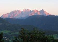 Paesaggio delle montagne nella sommità del sud del Tirolo Italia Europa Fotografia Stock Libera da Diritti