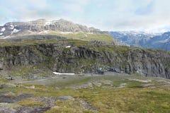 Paesaggio delle montagne norway Fotografie Stock