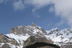 Paesaggio delle montagne ricoperto neve Fotografia Stock