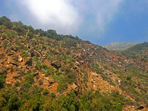 Paesaggio delle montagne selvagge fotografie stock