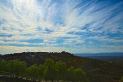 Paesaggio delle nubi fotografia stock