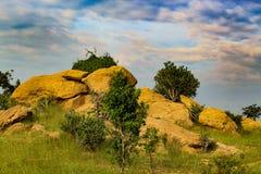 Paesaggio delle rocce e del cielo Fotografia Stock
