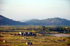 Paesaggio delle serrature di Cocoli, canale di Panama fotografia stock libera da diritti