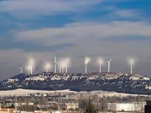 Paesaggio delle turbine di vento Fotografie Stock