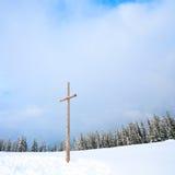 Paesaggio dello Snowy Fotografie Stock Libere da Diritti