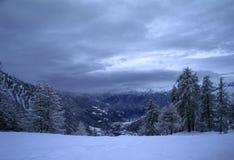 Paesaggio dello Snowy Immagini Stock Libere da Diritti