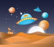 Paesaggio dello spazio dell'illustrazione Fotografia Stock