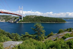 Paesaggio dello svedese della costa ovest Fotografia Stock Libera da Diritti