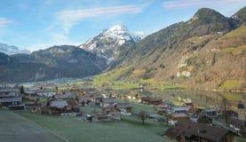 Paesaggio dello svizzero guardando dal pilatus del supporto Immagine Stock