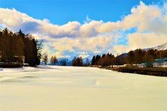 Paesaggio dello svizzero nell'inverno Immagine Stock Libera da Diritti