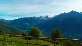 Paesaggio dello svizzero nelle alpi di estate Immagini Stock