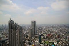 Paesaggio denso della città di Tokyo Fotografia Stock Libera da Diritti