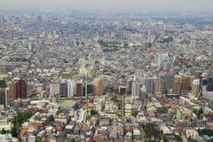Paesaggio denso della città di Tokyo Immagine Stock Libera da Diritti