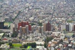 Paesaggio denso della città di Tokyo Fotografie Stock