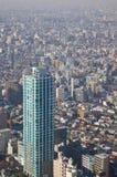 Paesaggio denso della città di Tokyo Immagine Stock