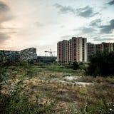 Paesaggio desolato del sobborgo immagine stock libera da diritti