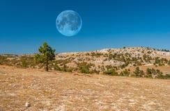 Paesaggio desolato della montagna Fotografia Stock