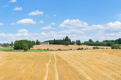 Paesaggio di agricoltura in Francia Fotografia Stock