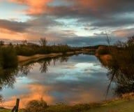 Paesaggio di alba Immagini Stock Libere da Diritti