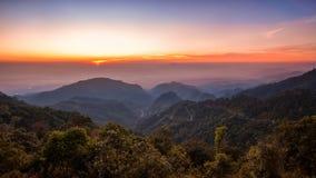 Paesaggio di alba di tramonto Immagini Stock Libere da Diritti