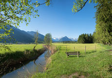 Paesaggio di Allgau a primavera Fotografia Stock