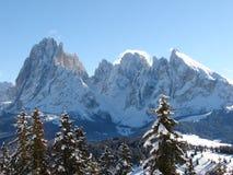 Paesaggio di Alpes in Ortisei Immagine Stock Libera da Diritti